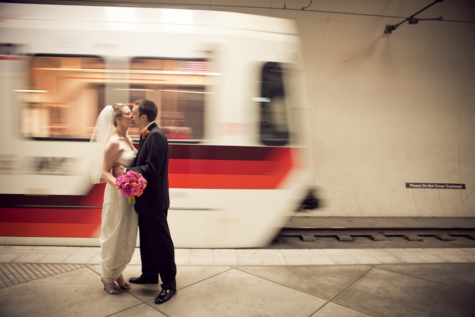 MAX train couple kissing
