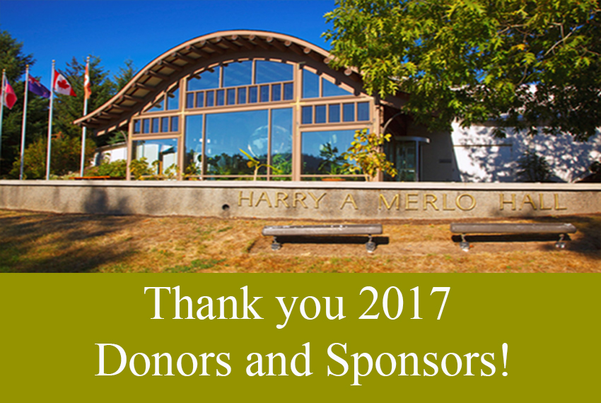 Thank You 2017 Donors and Sponsors