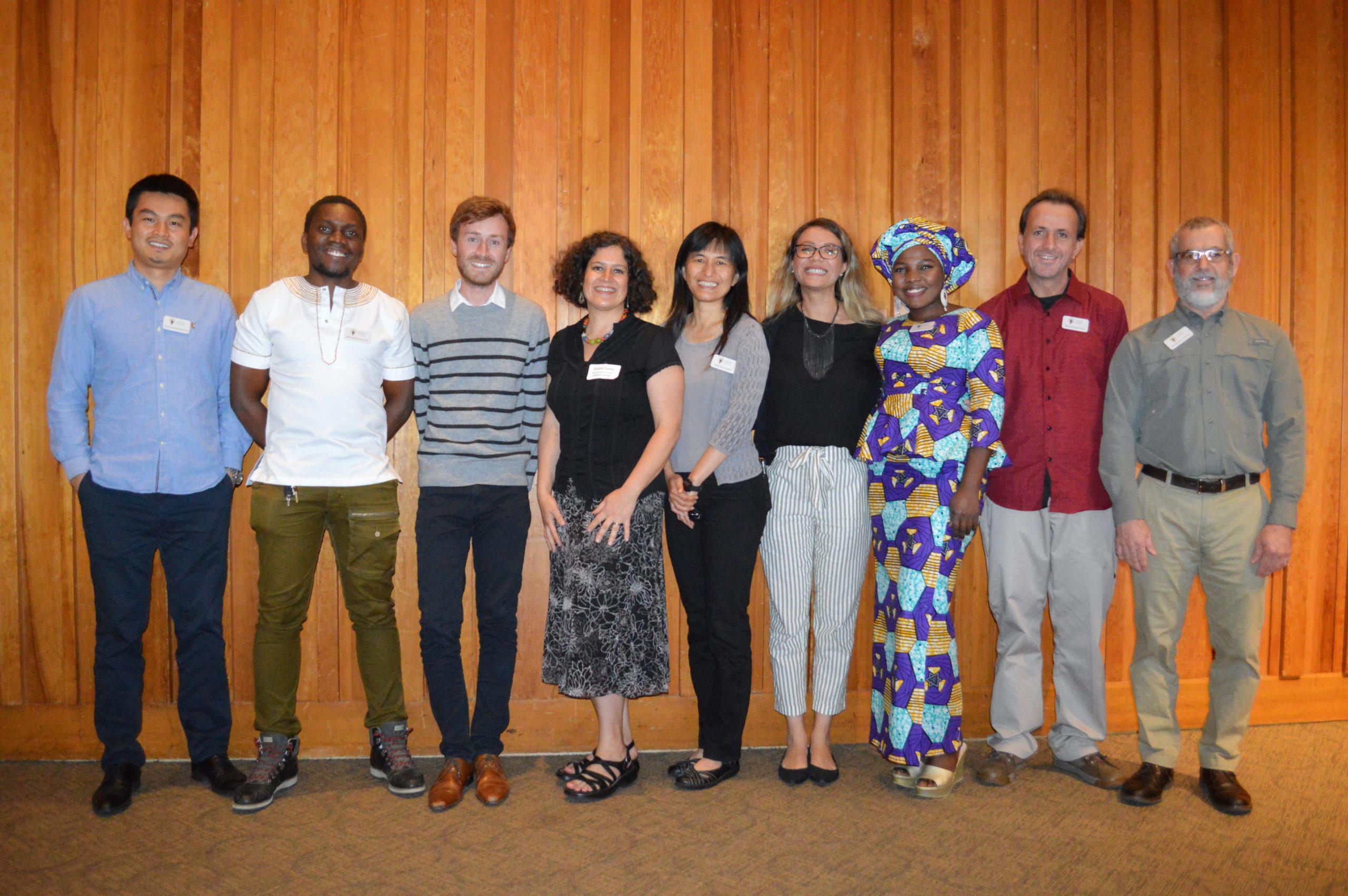 International Fellows pose at an event