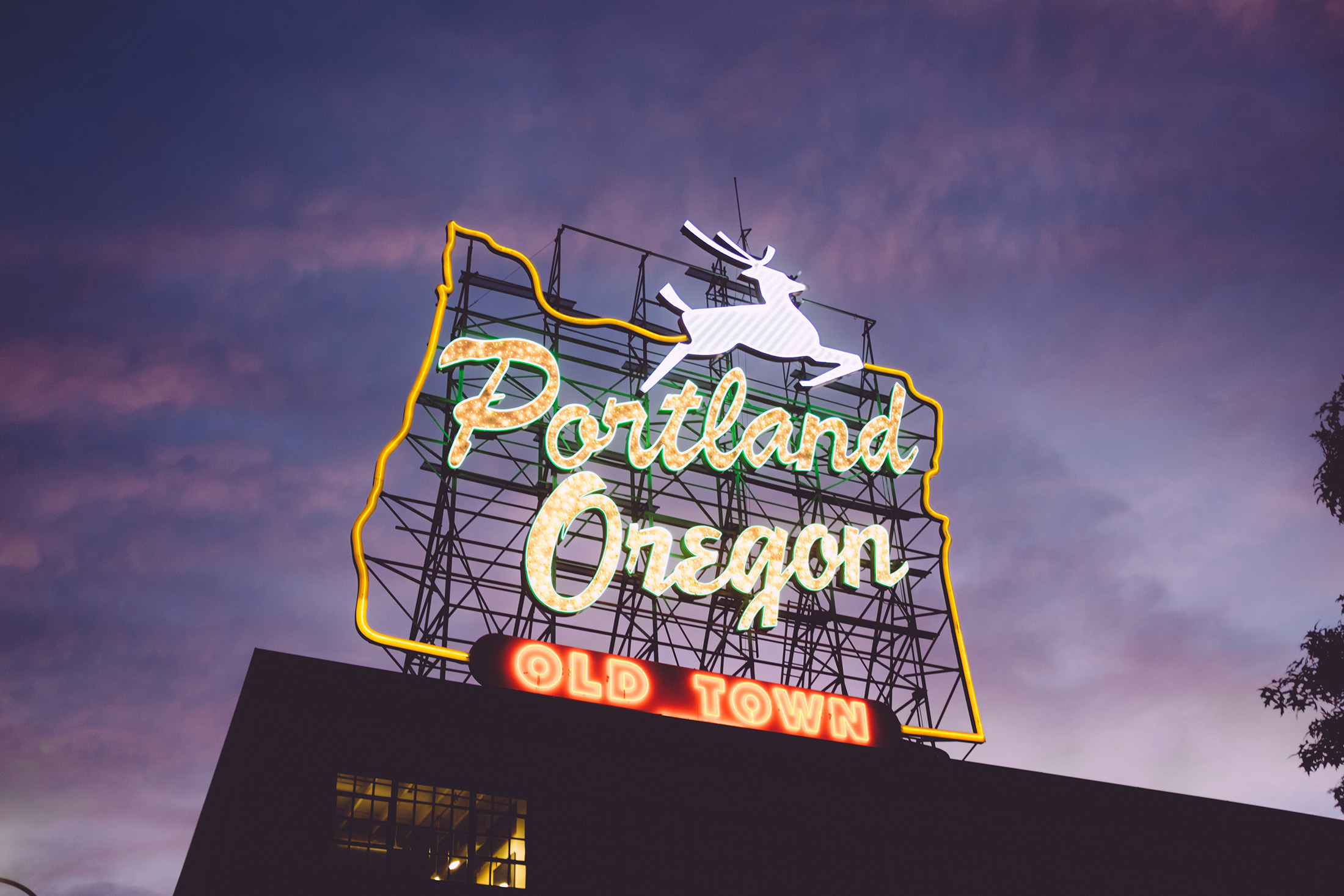 Neon Portland Oregon sign