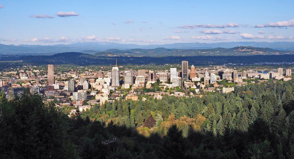 Panoramic view of Portland's skyline
