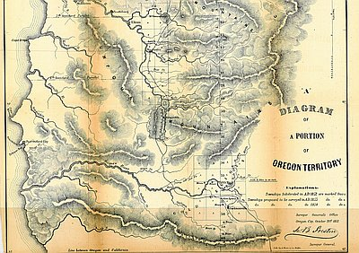 "Map labeled ""A Diagram of a Portion of Oregon Territory"""