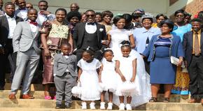Richard and his family at his wedding.